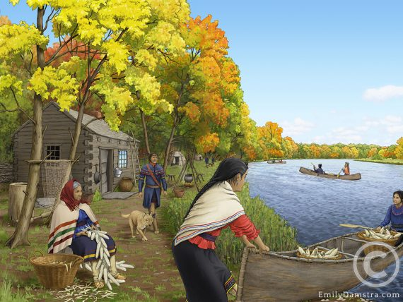 Davisville settlement mohawk illustration