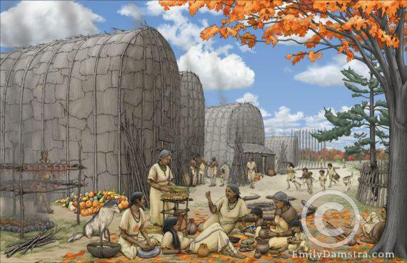 Neutral village illustration indigenous