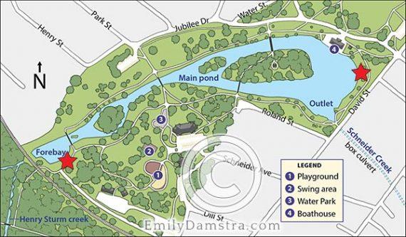 Map of Victoria Park