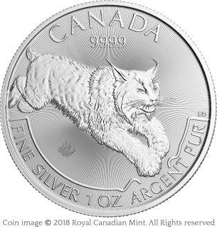 Lynx silver bullion coin – Emily S. Damstra