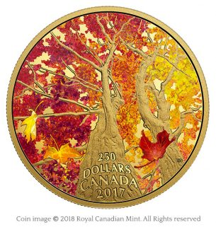 Maple canopy 2017 gold coin – Emily S. Damstra